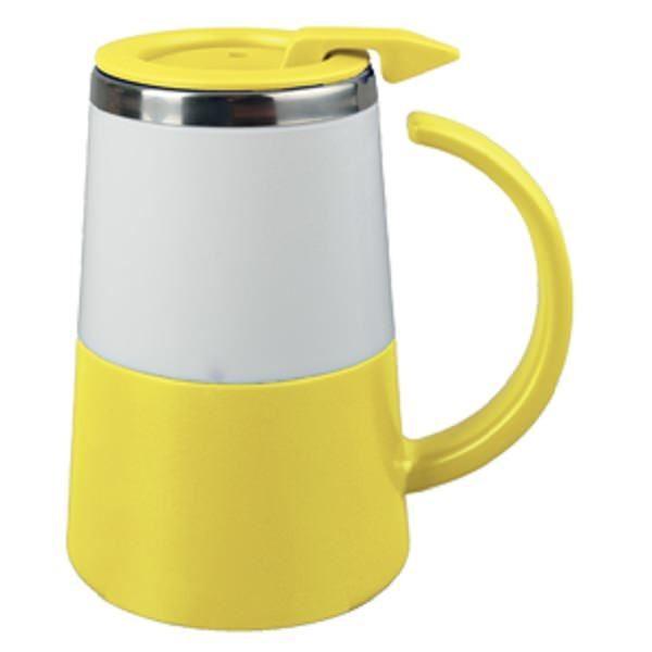 Желтая кружка с термоизоляцией на 360 мл