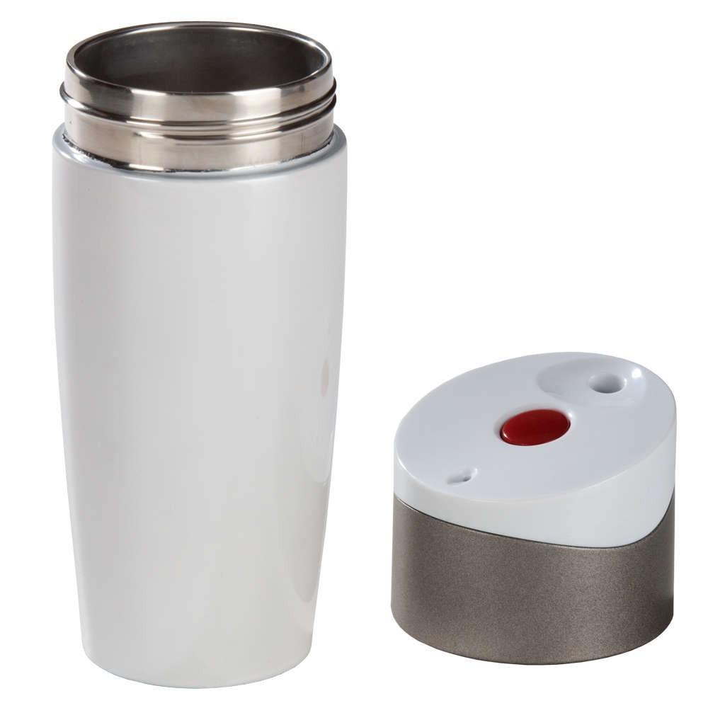 Термостакан ALASKA-1, двухслойный, герметичный, белый