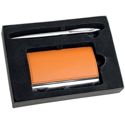 Подарочный набор оранжевого цвета