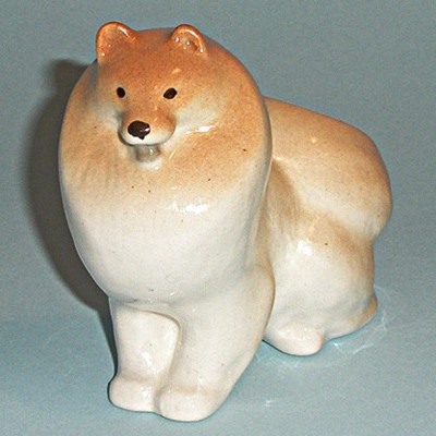 Винтажная статуэтка собака Лайка