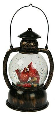 Декоративный водяной фонарь Снегири