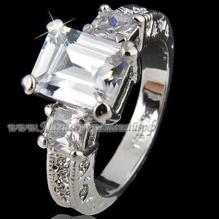 Кольцо с Crystal Swarovski