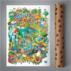 Постер Pixel Times (модерн)