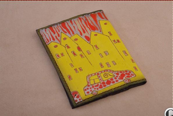 Обложка для автодокументов. Коллекция Altamira (лимонный; тип 1; нат. кожа)