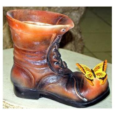 Кашпо «Ботинок с бабочками»