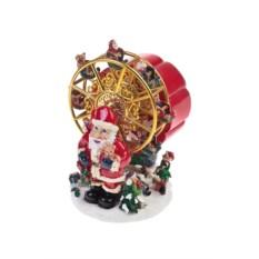 Новогоднее украшение Дед Мороз и сказочная карусель