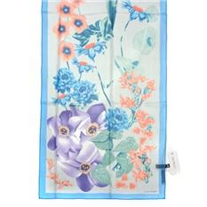 Шелковый шарф в бирюзово-голубых тонах Laura Biagiotti
