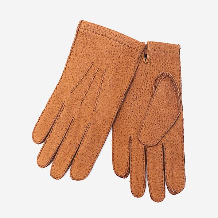 Светло-коричневые перчатки Merola из пекари, без подкладки