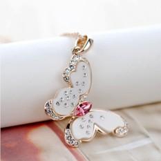 Кулон с кристаллами Сваровски Поцелуй бабочки