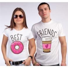 Парные футболки Кофе и вкусняшка
