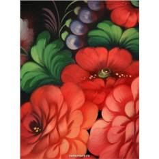 Фигурный поднос Букеты цветов (Жостово)