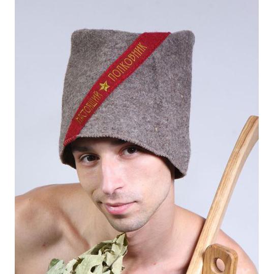Папаха для бани и сауны «Настоящий полковник»
