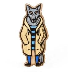 Значок WafWaf Волк в плаще