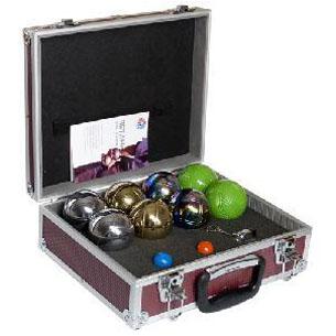 Петанк набор подарочный (8 шаров, серебристые, металлический кейс)