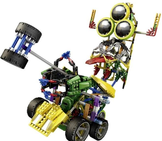Конструктор робота с мотором 2 в 1 «Трехглазик»
