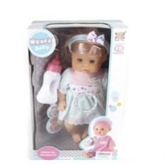 Интерактивная кукла 30 см (12 детских звуков, пьет, писает)