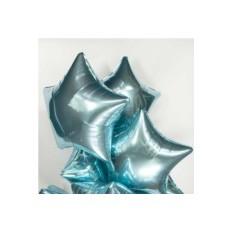 Фольгированные шары Голубые звезды