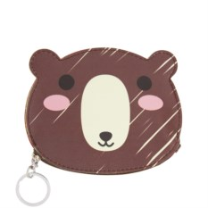 Кошелек-брелок Медведь (коричневый)