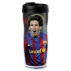Термостакан с вашим фото «Футбольный фанат»