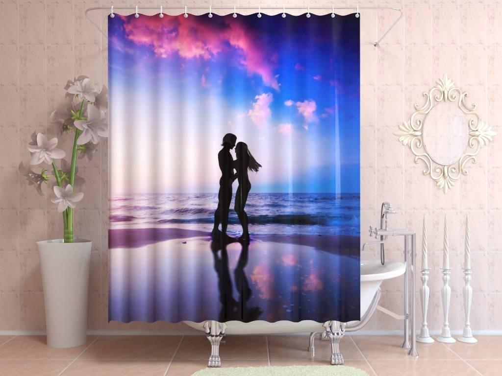Фотоштора для ванной Влюбленные