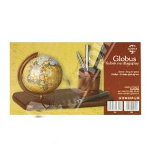 Подставка деревянная с глобусом и стаканом
