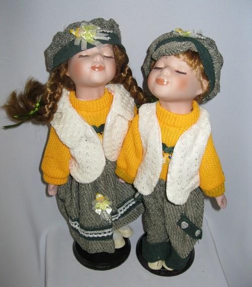 Куклы фарфоровые «Поцелуйчик»