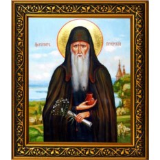 Икона на холсте Агапит Печерский Святой преподобный