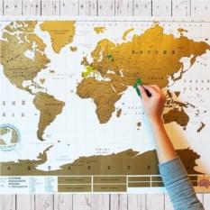 Большая стиральная скретч карта путешествий Truemap Original