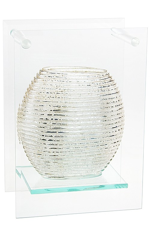 Ваза декоративная Серебро Округлая.