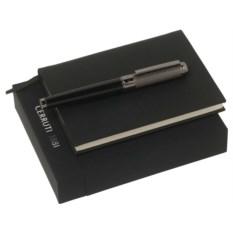 Черный набор Cerruti 1881: записная книжка, ручка-роллер