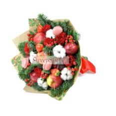 Букет из фруктов и цветов Фруктовая сказка