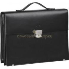 Кожаный портфель с двумя секциями
