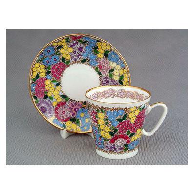 Чашка с блюдцем «Весенние цветы»