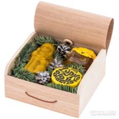 Новогодний подарочный набор Дед Мороз и мед