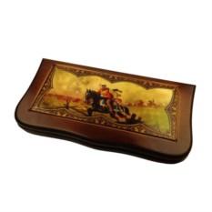 Резные нарды в деревянном коробе Гусарские