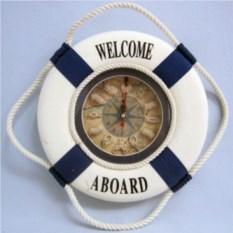 Настенные часы Спасательный круг (35 см, синие)