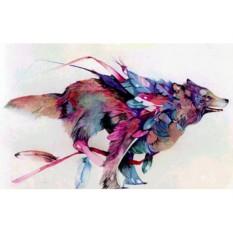 Алмазная вышивка «Летящий волк»