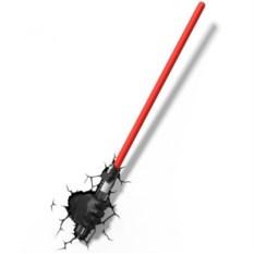 3D светильник Star Wars Лазерный меч Дарта Вэйдера