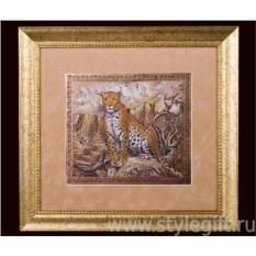 Панно-гравюра Леопард
