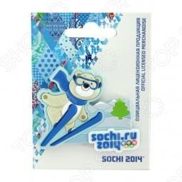 Магнит Sochi 2014 «Лыжи сМишкой», ПВХ