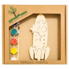 Развивающая игрушка Ракета с красками
