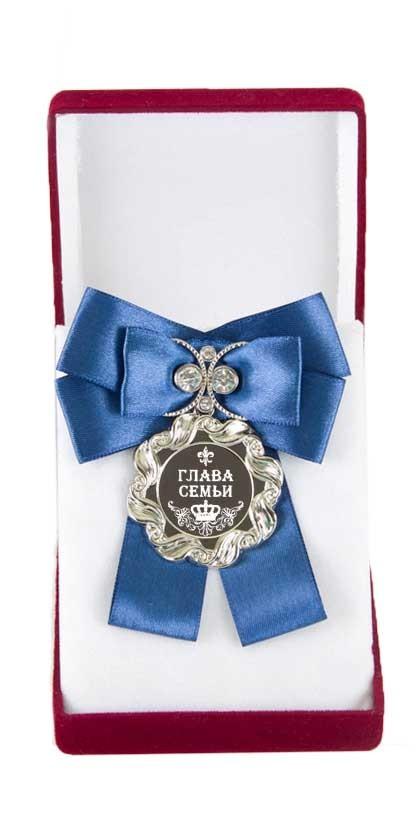 Большая медаль с синим бантом Глава семьи