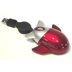 Мышь для ПК самолетик, красная