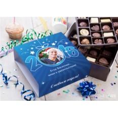 Бельгийский шоколад в подарочной упаковке Счастливого Нового года