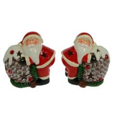 Новогодний сувенир Дед Мороз с шишкой