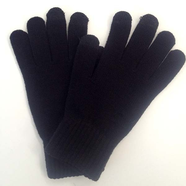 Черные перчатки для сенсорных устройств