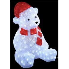 Уличная светящаяся фигура Новогодний медвежонок (40 см)