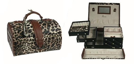 Шкатулка для ювелирных украшений CALVANI с принтом леопард