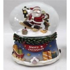 Водяной музыкальный шар со снегом Дед Мороз