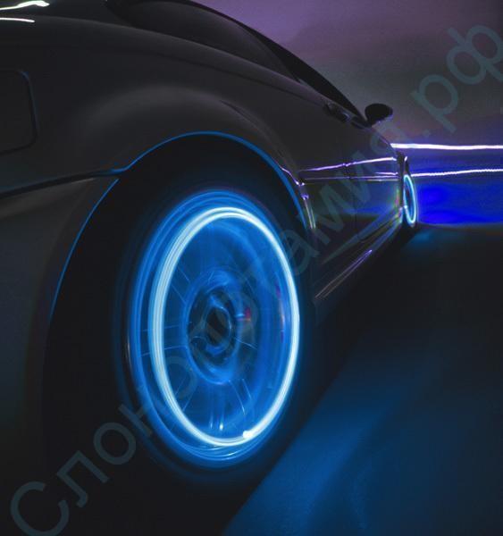 Комплект из 4 LED подсветок для колес автомобиля